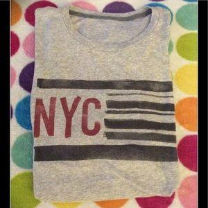 NYC mens XL graphic t shirt, short sleeves, new